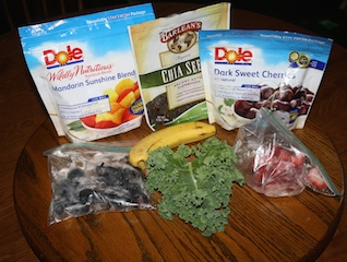 Ingredients to make a delicious smoothie