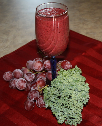 A lovely ruby red smoothie full of goodness and health.