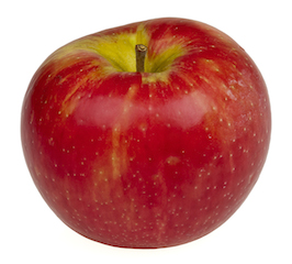 a crispy red apple full of fiber and nutrients