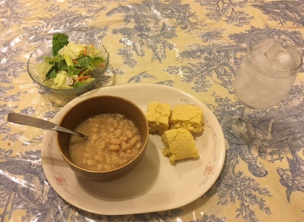 Cook a pot of beans and add some pineapple cornbread and a crispy salad. Easy to make and so good.