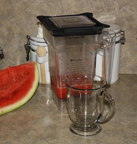 watermelon juice - unstrained