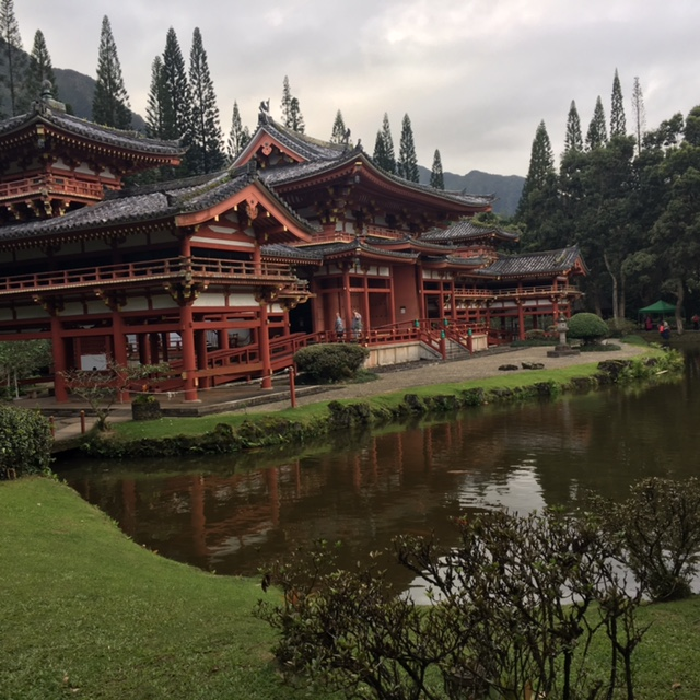 The Japanese Byodo-in Temple is so peaceful with many animals roaming about.