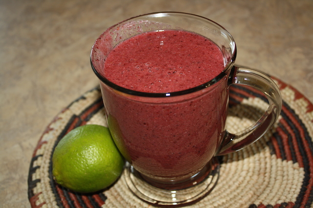 cheery cherry smoothie is good ungarnished if you are in a hurry. just blend it and go.