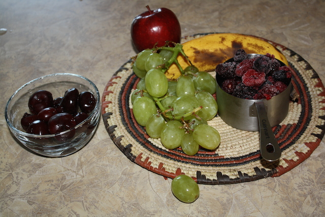 Cheery cherry smoothie is more than cherries. It is full of nutritious fruit and seeds.