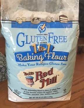 what is new out there - for those of you who can't eat gluten, Red Mill is marketing gluten free flour.