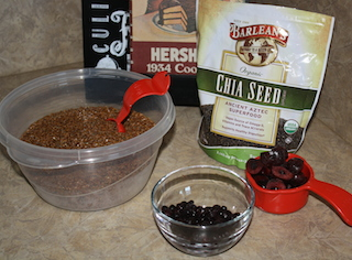 Chia and flax seeds are a healthy addition to a smoothie