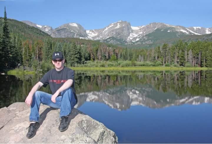 My grandson Jeremy visiting South Dakota