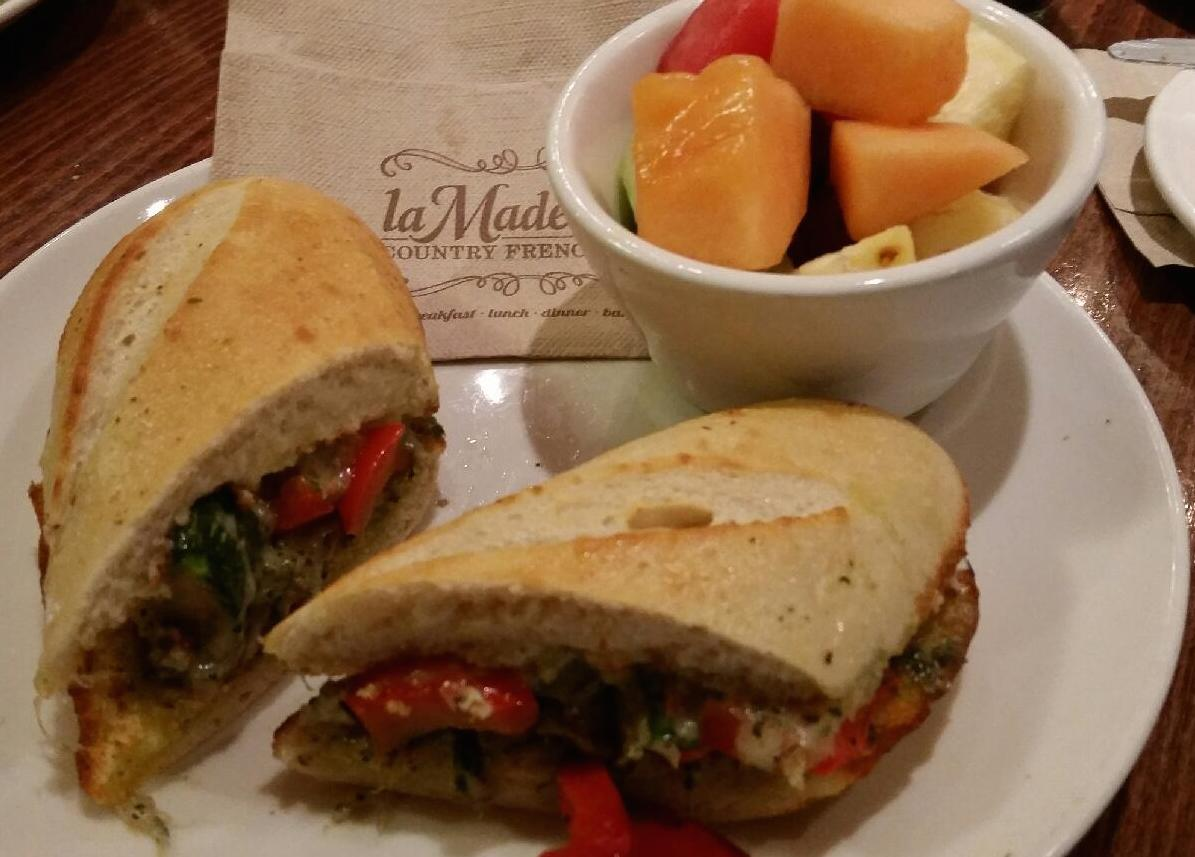 A healthy lunch from La Madeleine's