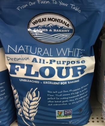Natural white flour is much healthier than bleached flour.
