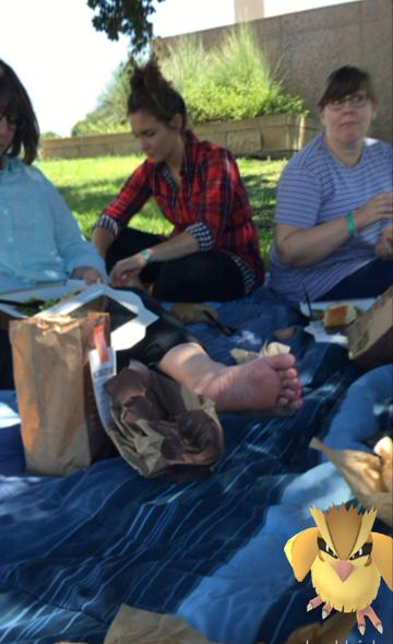 Pidgie enjoying the picnic