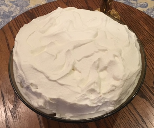 A creamy melt in your mouth whipped cream topping