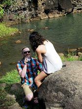 Michael proposes to Morgan at Waimea Falls