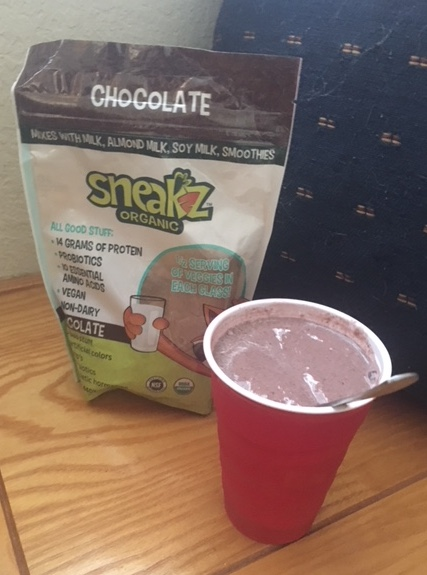 thick and creamy shake made with Sneakz protein powder.