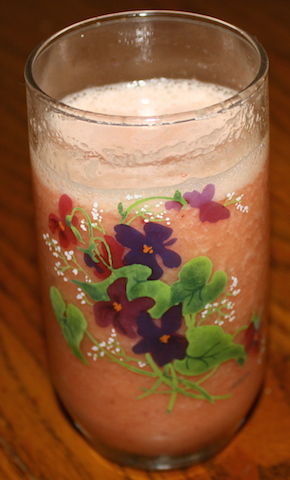 watermelon fruit salad smoothie is pretty and pink