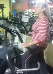 Judith is exercising daily to keep her cholesterol at  healthy level and you can too