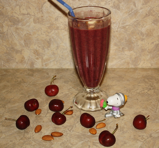 A smoothie pictured with snoopy as a knight in shining armor