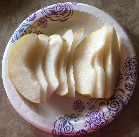 Sliced Asian pears make a good between-meal snack.
