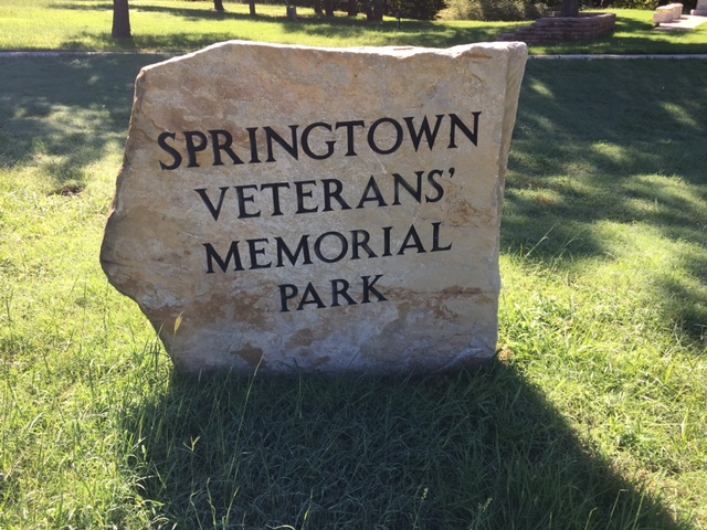Springtown veterinary memorial is a good place to catch pokemon.